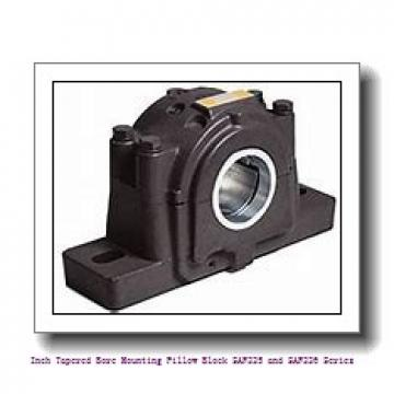3.438 Inch | 87.325 Millimeter x 1.75 in x 15.2500 in  timken FSAF 22520 Inch Tapered Bore Mounting Pillow Block SAF225 and SAF226 Series
