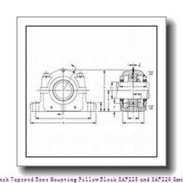 timken SAF 22628 5 Inch Tapered Bore Mounting Pillow Block SAF225 and SAF226 Series