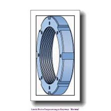 skf KM 4 Lock nuts requiring a keyway (metric)