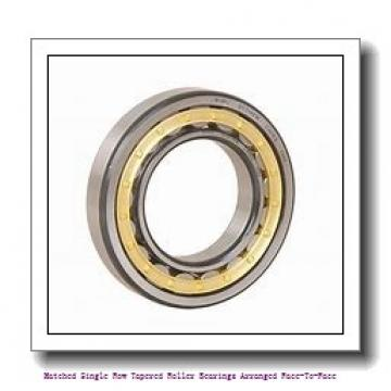 skf 32220/DF Matched Single row tapered roller bearings arranged face-to-face