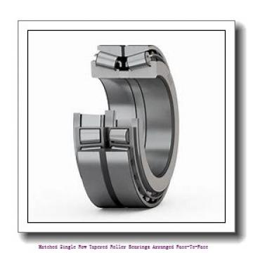skf 32038 X/L4BDF Matched Single row tapered roller bearings arranged face-to-face