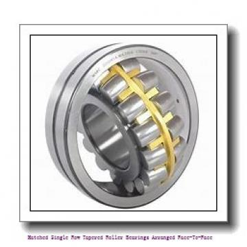 skf 32010 X/DF Matched Single row tapered roller bearings arranged face-to-face