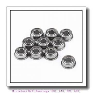 2.25 Inch   57.15 Millimeter x 0 Inch   0 Millimeter x 1.625 Inch   41.275 Millimeter  timken 623 Miniature Ball Bearings (600, 610, 620, 630)
