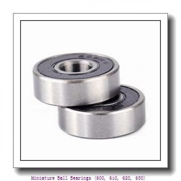 timken 609-2RZ Miniature Ball Bearings (600, 610, 620, 630)