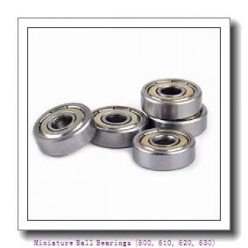 timken 604-2RZ Miniature Ball Bearings (600, 610, 620, 630)